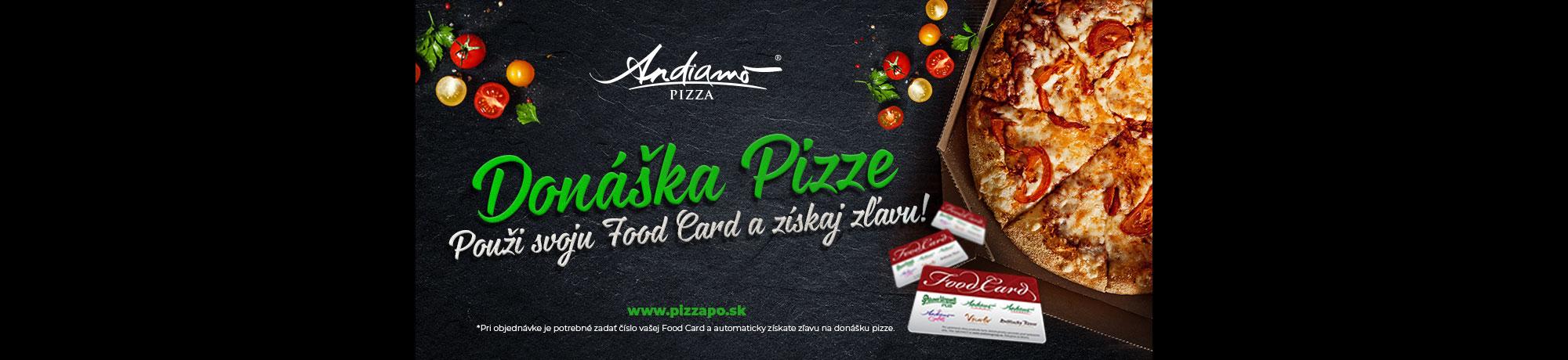 Donáška Pizze Andiamo Prešov